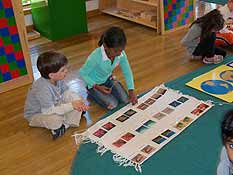 students move at their own pace in a Montessori classroom