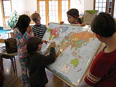 Students learn about the world around them and sharpen their geography skills