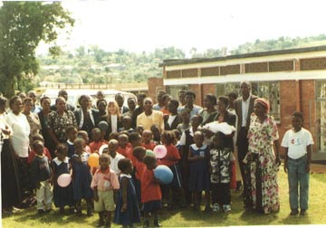 The opening of the original, leased Victoria Montessori School in Entebbe Uganda