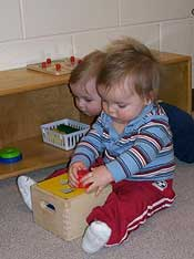 child care for infants as young as 3 months old and toddlers at Montessori